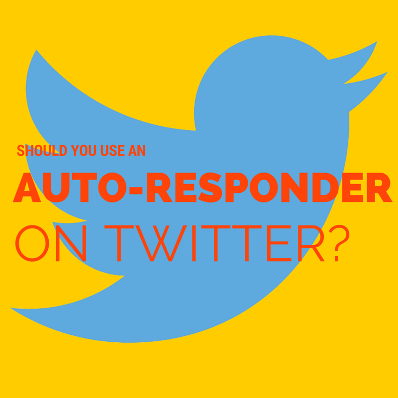Jay Carteré| Jay Cartere| Should You Use An Auto-Responder On Twitter?