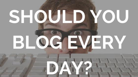 Jay Carteré | Jay Cartere |Should You Blog Every Day?
