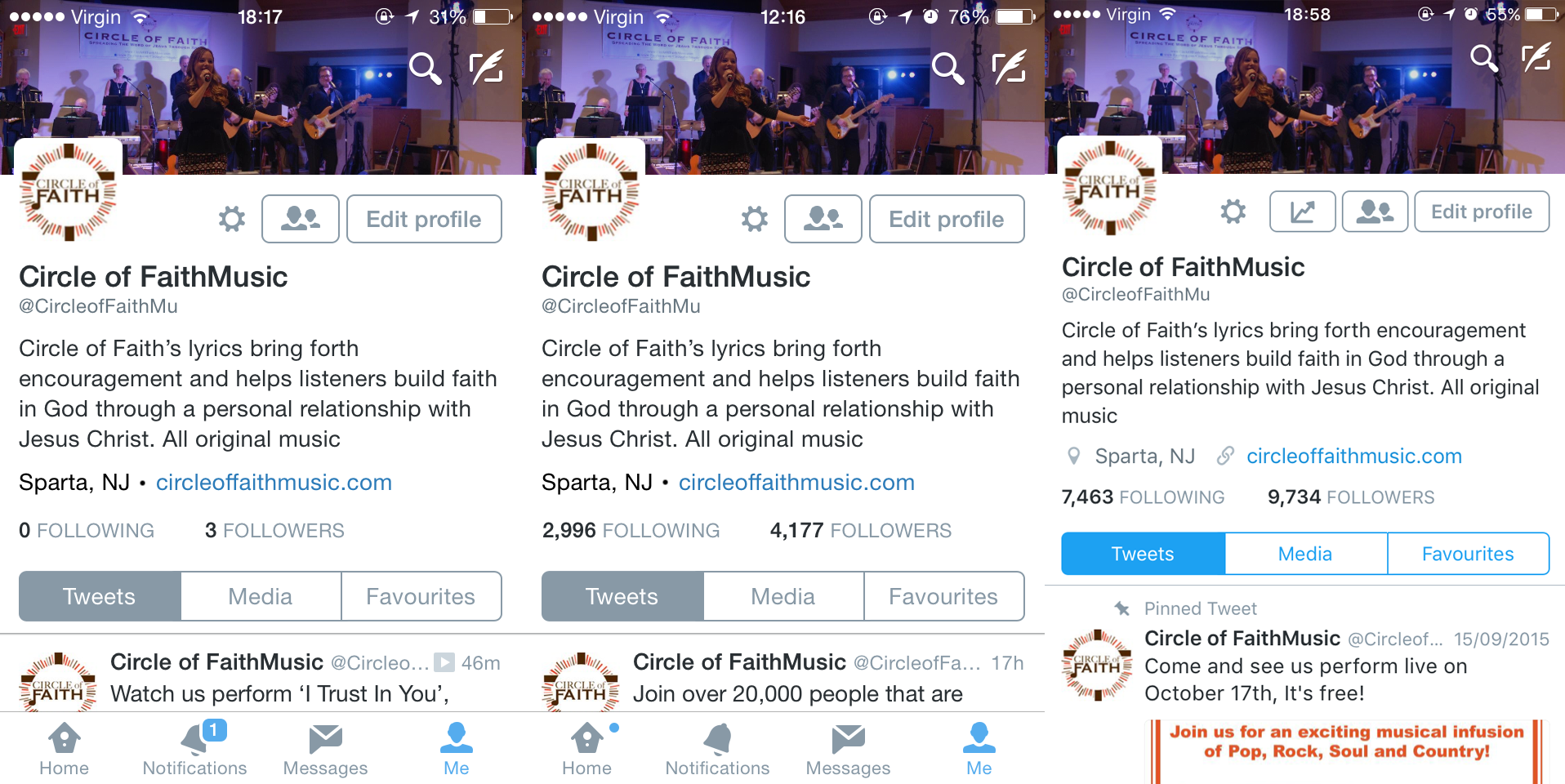 Social Media Management: Circle Of Faith [Twitter]